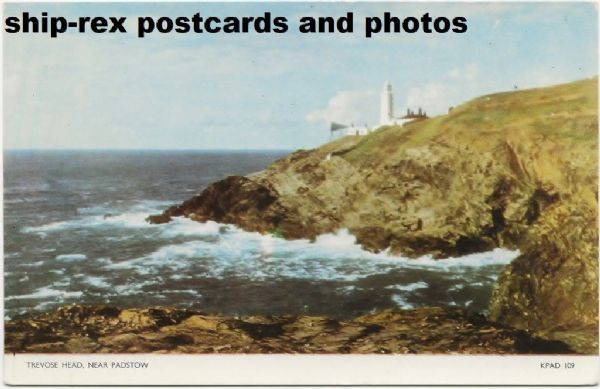 Trevose Head Lighthouse, postcard (b)